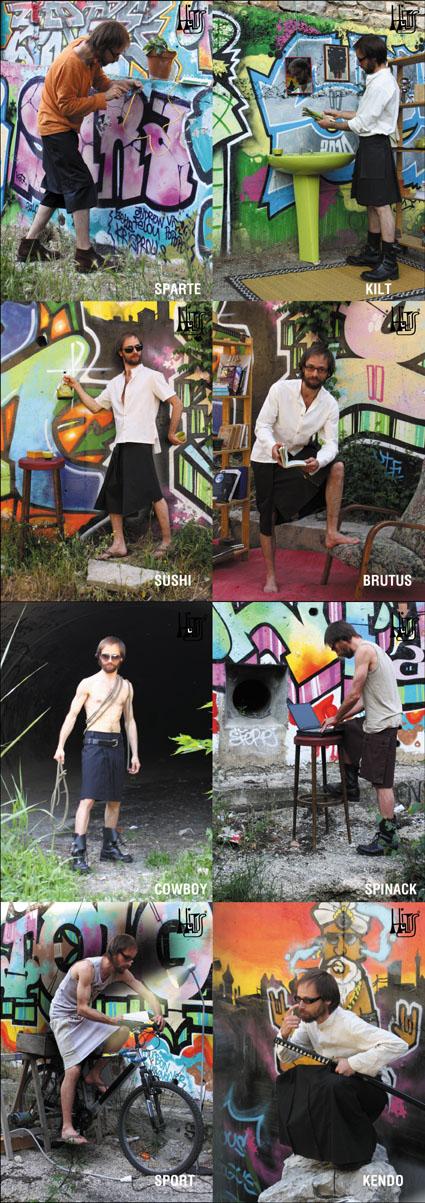 collection de jupes pour hommes hiatus